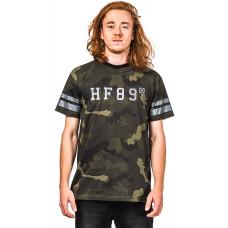 Horsefeathers NEVILLE black camo pánské tričko s krátkým rukávem - XL