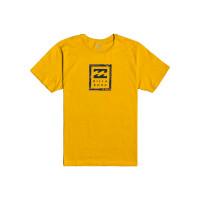 Billabong UNITY STACKED MUSTARD pánské tričko s krátkým rukávem - M