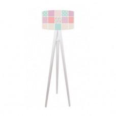 Dětská stojací lampa Pastel power + bílý vnitřek + bílé nohy
