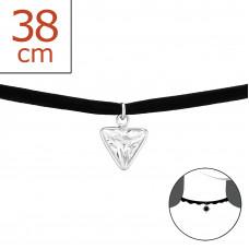 OLIVIE - CHOKER náhrdelník TROJÚHELNÍK 0119