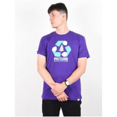 Picture Recycled PURPLE pánské tričko s krátkým rukávem - L