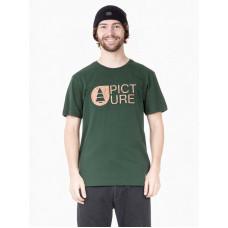 Picture Basement Cork FOREST GREEN pánské tričko s krátkým rukávem - XL