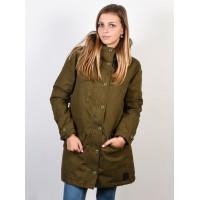 RVCA GROUND CONTROL BURNT OLIVE zimní bunda dámská - L