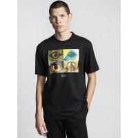 Element OPTICAL FLINT BLACK pánské tričko s krátkým rukávem - XL