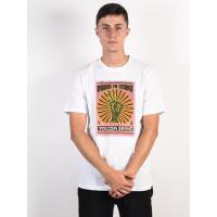 Volcom Aok Fty white pánské tričko s krátkým rukávem - L