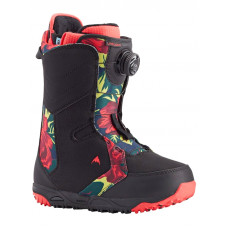 Burton LIMELIGHT BOA BLACK/FLORAL dámské boty na snowboard - 40EUR