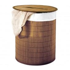 AQUALINE - BEACH koš na prádlo, bambus, hnědá (21005008)
