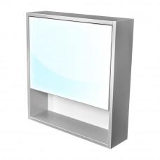 CEDERIKA - Amsterdam galerka 1x výklopné barva zrcadlo v AL rámu korpus korpus světle šedá šíře 60 (CA.G1V.191.060)