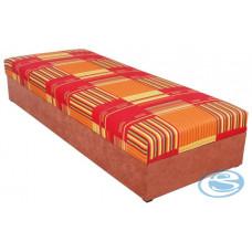 Čalouněná postel Rio 80x200 oranžová - BLANAŘ