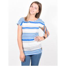 Picture Seastripes GREY MELANGE STRIPE dámské tričko s krátkým rukávem - L