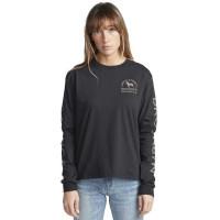 RVCA WICKS FADED BLACK dámské tričko s dlouhým rukávem - S