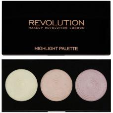 Makeup Revolution London Highlighting Powder Palette rozjasňovač 15 g