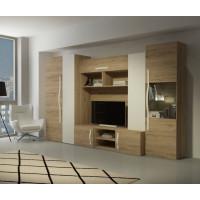 Obývací stěna Mel san remo/bílý lesk - FALCO