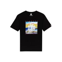 Element PEORIA FLINT BLACK pánské tričko s krátkým rukávem - L
