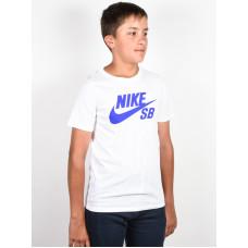 Nike SB LOGO WHITE/PMTBLU dětské tričko s krátkým rukávem - M