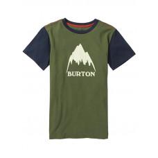 Burton CLASSIC MOUNTAIN HIG DUSTY OLIVE dětské tričko s krátkým rukávem - XL