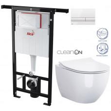 ALCAPLAST - SET Jádromodul - předstěnový instalační systém + tlačítko M1710 + WC OPOCZNO CLEANON URBAN HARMONY + SEDÁTKO (AM102/1120 M1710 HA1)