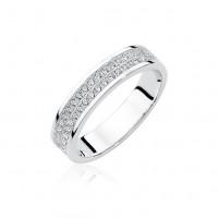 OLIVIE Stříbrný prsten se zirkony 1951 Velikost prstenů: 8 (EU: 57 - 58)