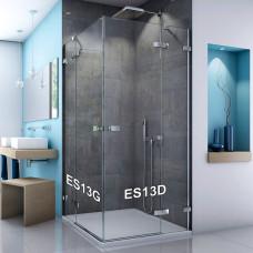 SanSwiss ES13 D 075 50 07 Jednokřídlé dveře s pevnou stěnou v rovině 75 cm pravé, aluchrom/sklo
