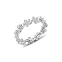 OLIVIE Stříbrný květinový prsten 3191 Velikost prstenů: 7 (EU: 54 - 56)