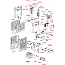 ALCAPLAST - Alca rohový ventil s držákem a maticí, set - P068 (P068)