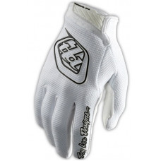 Troy Lee Designs AIR YOUTH white cyklistické rukavice - S
