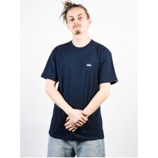 Vans LEFT CHEST LOGO navy/white pánské tričko s krátkým rukávem - M