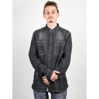 Element PACE LIGHT GREY DENIM pánská košile dlouhý rukáv - XL