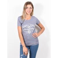 Temple TEMPLE 25 ANNIVERSAR LAVA GREY dámské tričko s krátkým rukávem - S