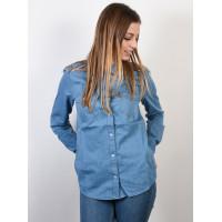 Roxy LIGHT OF DOWN MEDIUM BLUE dámská košile dlouhý rukáv - M