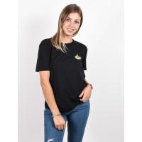 Volcom Lock It Up black dámské tričko s krátkým rukávem - S