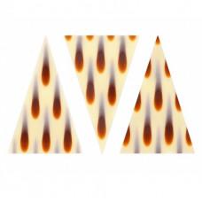 Dekorace čokoládová - LACRIMA trojúhelníky, 20 ks