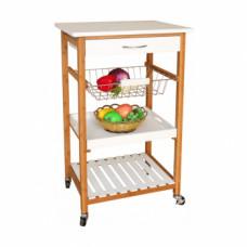 Servírovací stolek na kolečkách RAPID bílá - TempoKondela