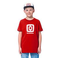 Horsefeathers FAIR RED dětské tričko s krátkým rukávem - S