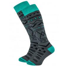 Horsefeathers RIVEN GRAY kompresní ponožky - 5 - 6