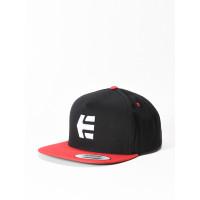 Etnies Icon Snapback BLACK/RED pánská kšiltovka