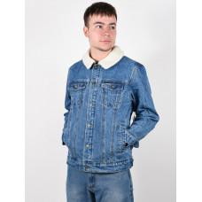 Rip Curl ANGUS DENIM mid blue zimní bunda pánská - L