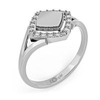 Zlato Zlatý dámský prsten Kostka 6660308 Velikost prstenu: 50