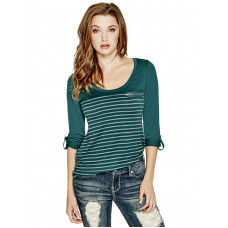 GUESS top Keitin Long-Sleeve tyrkysový vel. XS