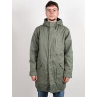 RVCA STANDARD ISSUE PARKA SEQUOIA GREEN zimní bunda pánská - XL