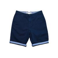 Vans EXCERPT CUFF DRESS BLUES/GUILDER STRIPE dětské plátěné kraťasy - 22