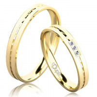 Zlato Snubní prsten Couple Egremni ze žlutého zlata