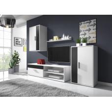 Obývací stěna Tok 1 bílá/černá - FALCO