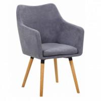 Jídelní židle DABIR šedá - TempoKondela