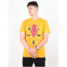 Picture Seabed ORANGE pánské tričko s krátkým rukávem - XL