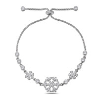 OLIVIE Stříbrný náramek SNĚHOVÁ VLOČKA 2806