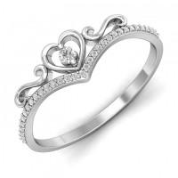OLIVIE Srdíčkový stříbrný prstýnek 4111 Velikost prstenů: 7 (EU: 54 - 56)