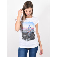 Animal SNAPS white dámské tričko s krátkým rukávem - 12