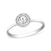 OLIVIE Stříbrný prsten s krystaly 1237 Velikost prstenů: 7 (EU: 54 - 56)