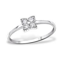 OLIVIE Stříbrný prsten s kubickými zirkony 1028 Velikost prstenů: 7 (EU: 54 - 56)
